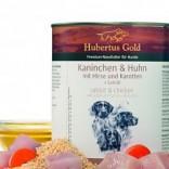 Hubertus Gold 800 g blik Konij & kip met gierst & wortelen