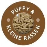 Carnis geperste brok pups en kleine rassen