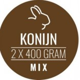 Carnivoer konijnenmix 2 x 400 g